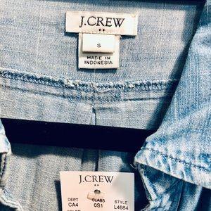 J. Crew Dresses - NWT JCrew Button Down Chambray Dress